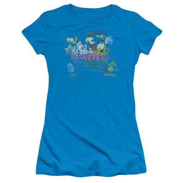 GARFIELD GARFIELD AND FRIENDS - S/S JUNIOR SHEER - TURQUOISE T-Shirt