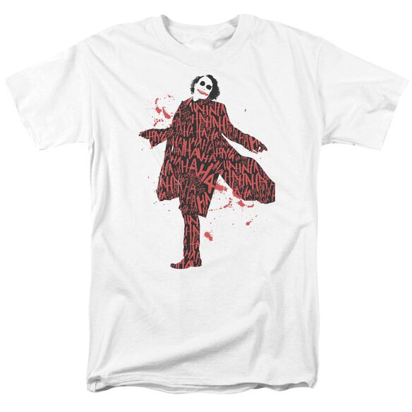 Dark Knight Covered In Laughter Short Sleeve Adult White T-Shirt