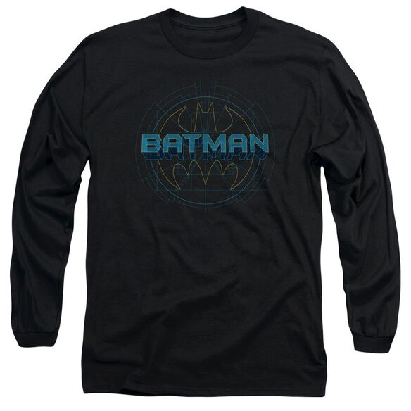 Batman Bat Tech Logo Long Sleeve Adult T-Shirt