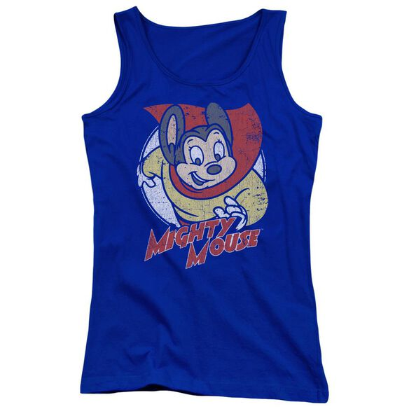Mighty Mouse Mighty Circle Juniors Tank Top Royal
