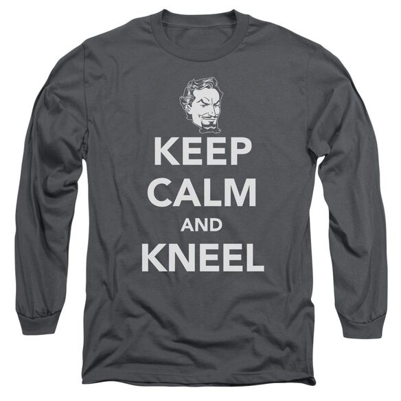Dc Keep Calm And Kneel Long Sleeve Adult T-Shirt