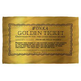 Willy Wonka And The Chocolate Factory I Got A Golden Ticket Towel White