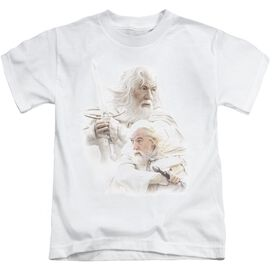 Lor Gandalf The White Short Sleeve Juvenile White T-Shirt