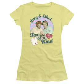 I LOVE LUCY TWO OF A KIND - S/S JUNIOR SHEER - BANANA T-Shirt