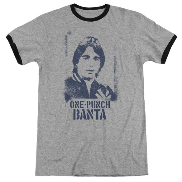 Taxi One Punch Banta Adult Ringer Heather Black