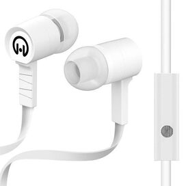 HyperGear Low Ryder Earphones with Mic (White)