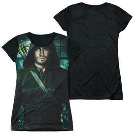 Arrow Two Sides Short Sleeve Junior Poly Black Back T-Shirt