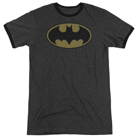 Batman Little Logos - Adult Heather Ringer