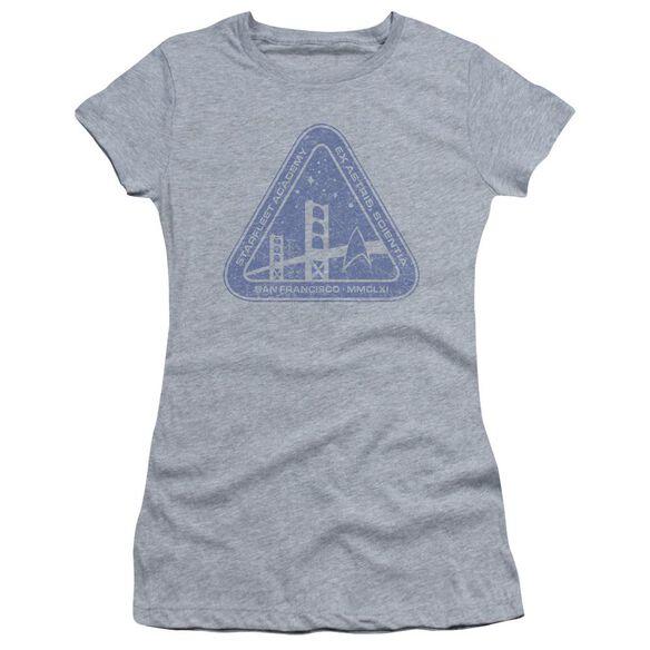 Star Trek Distressed Logo Short Sleeve Junior Sheer Athletic T-Shirt