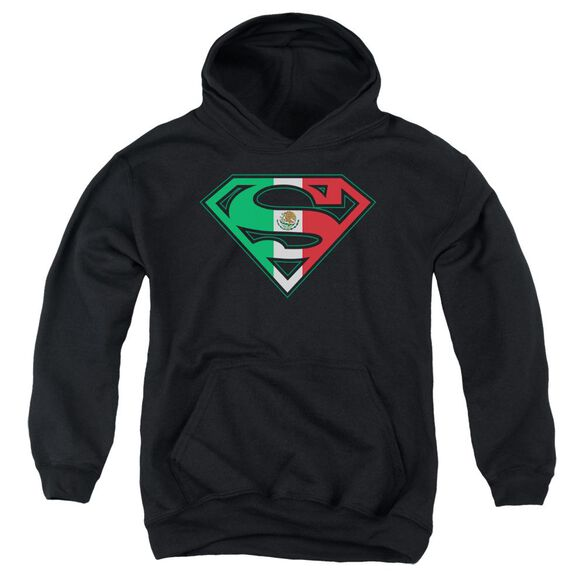 Superman Mexican Flag Shield Youth Pull Over Hoodie