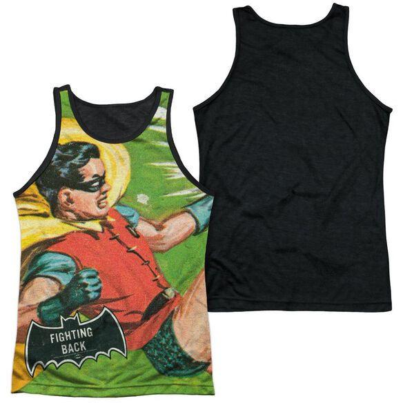 Batman Classic Tv Fighting Back Adult Poly Tank Top Black Back