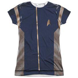 Star Trek Discovery Discovery Uniform Short Sleeve Junior Poly Crew T-Shirt