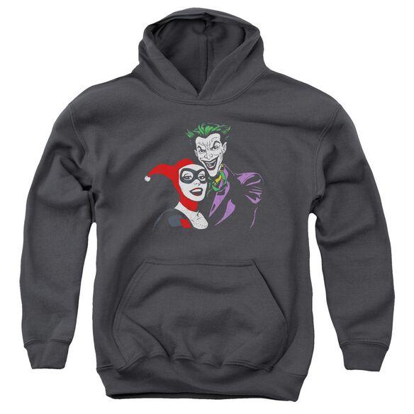 Batman Joker & Harley Youth Pull Over Hoodie