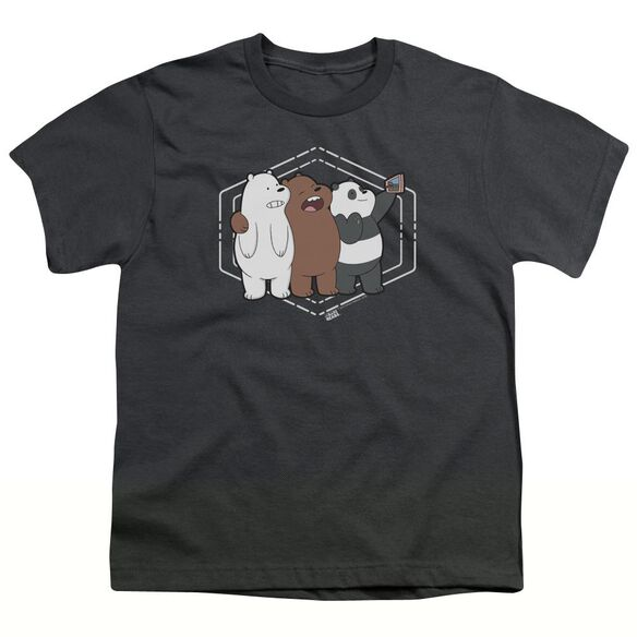 We Bare Bears Selfie Short Sleeve Youth T-Shirt