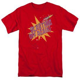 Astro Pop Blast Off Short Sleeve Adult Red T-Shirt