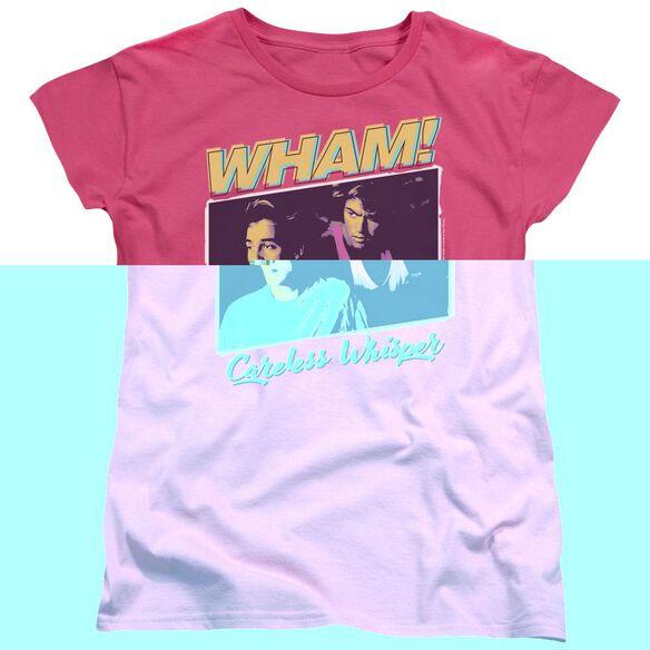 Wham Careless Whisper Short Sleeve Womens Tee Hot T-Shirt