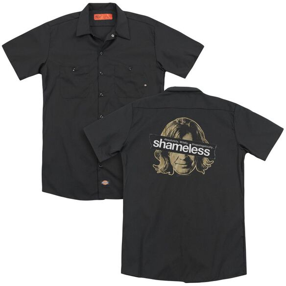 Shameless Frank Cover Up (Back Print) Adult Work Shirt