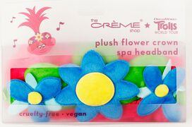 The Creme Shop Trolls World Tour Plush Flower Crown Spa Headband