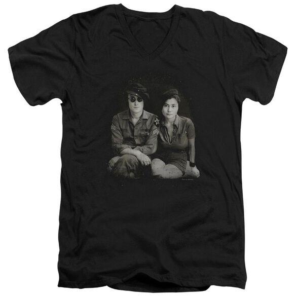 John Lennon Beret Short Sleeve Adult V Neck T-Shirt