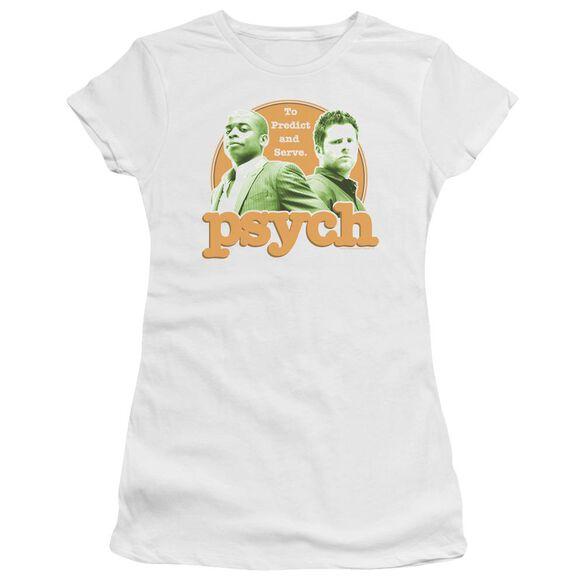 Psych Predictable Short Sleeve Junior Sheer T-Shirt
