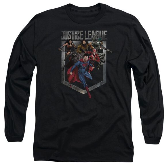 Justice League Movie Charge Long Sleeve Adult T-Shirt