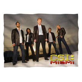 Csi:Miami Cast Pillow Case White