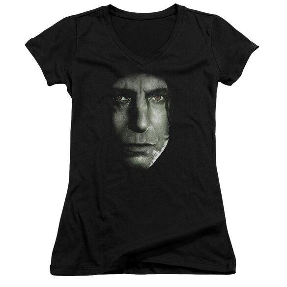 Harry Potter Snape Head Junior V Neck T-Shirt