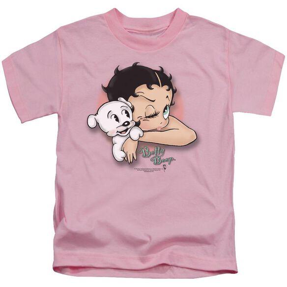 Betty Boop Wink Wink Short Sleeve Juvenile Pink T-Shirt