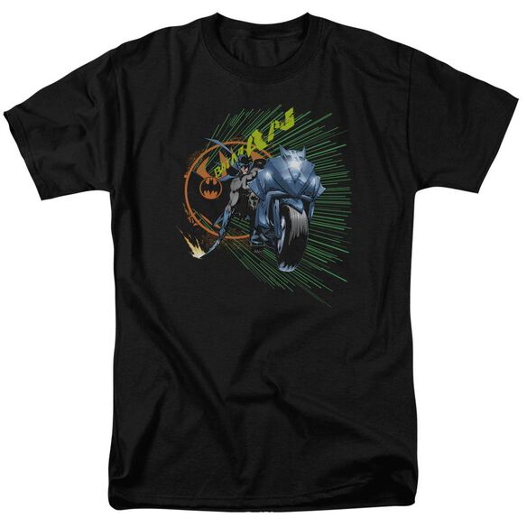Batman Batcycle Short Sleeve Adult T-Shirt