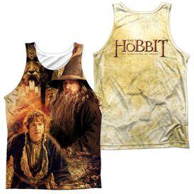Hobbit Bilbo And Gandalf (Front & Back Print) Adult 100% Poly Tank Top