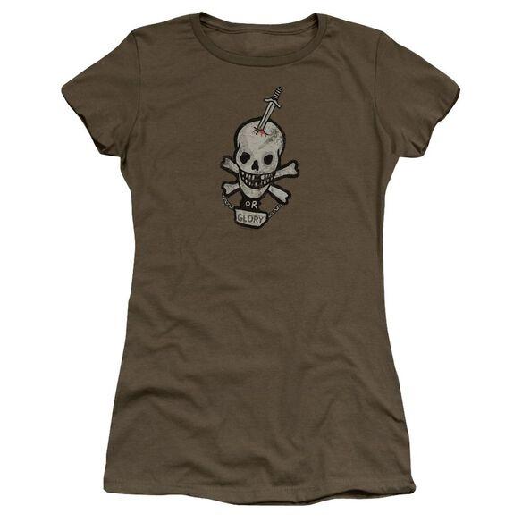 Alien Death Or Glory Premium Bella Junior Sheer Jersey Military