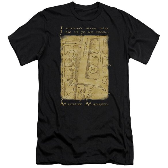 Harry Potter Marauders Map Interior Words Short Sleeve Adult T-Shirt