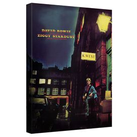 David Bowie Ziggy Cover Canvas Wall Art With Back Board
