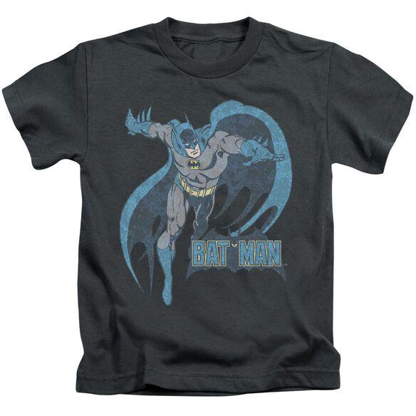 Dco Desaturated Batman Short Sleeve Juvenile Charcoal T-Shirt