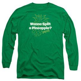 Psych Pineapple Split Long Sleeve Adult Kelly T-Shirt