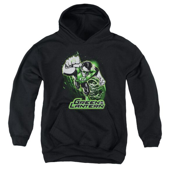 Jla Green Lantern Green & Gray Youth Pull Over Hoodie