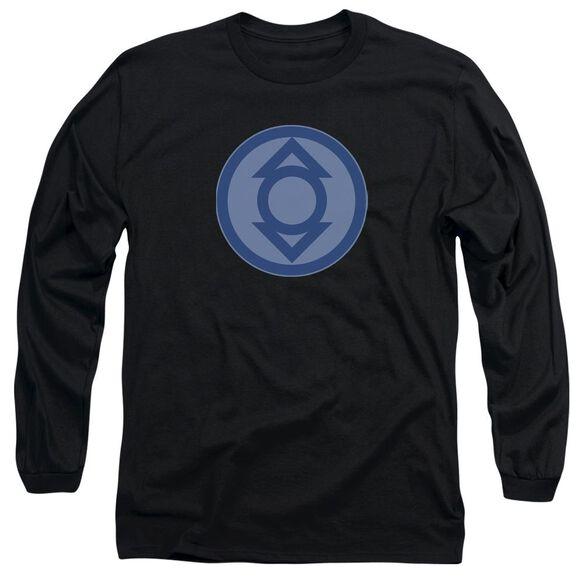 Green Lantern Indigo Symbol Long Sleeve Adult T-Shirt