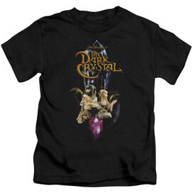 Dark Crystal Crystal Quest Short Sleeve Juvenile Black T-Shirt