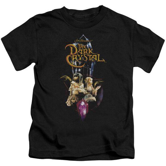 Dark Crystal Crystal Quest Short Sleeve Juvenile Black T-Shirt