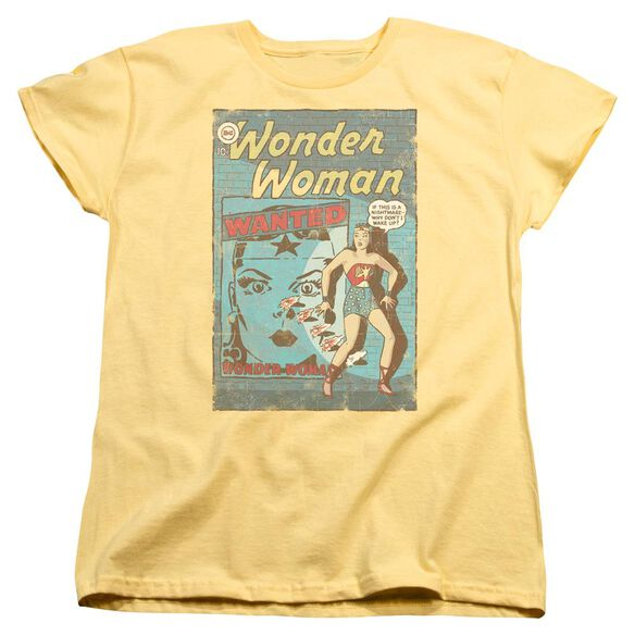 Dc Ww Wanted Short Sleeve Womens Tee T-Shirt