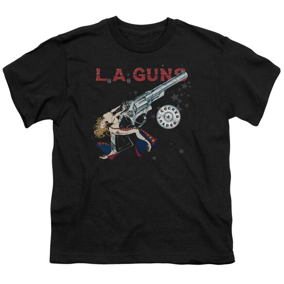 La Guns Cocked And Loaded Short Sleeve Youth T-Shirt