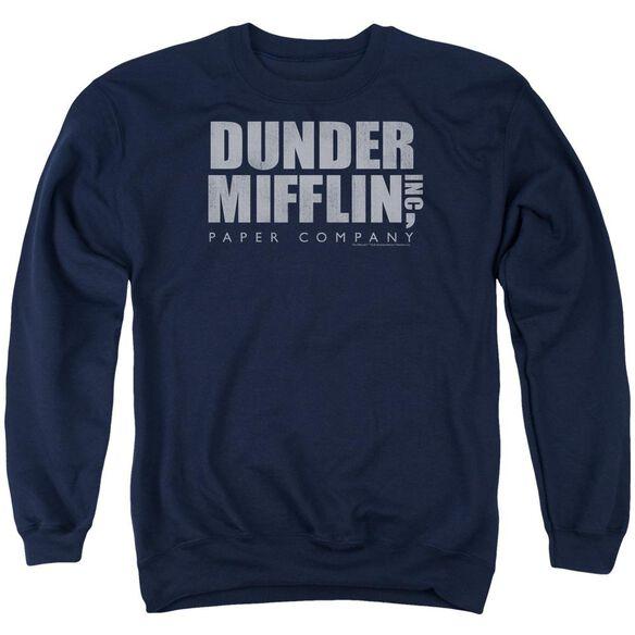 The Office Dunder Mifflin Distressed Adult Crewneck Sweatshirt
