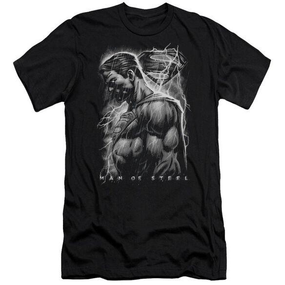 Man Of Steel Steel Rain Short Sleeve Adult T-Shirt