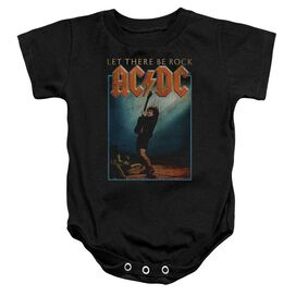 Acdc Let There Be Rock Infant Snapsuit Black