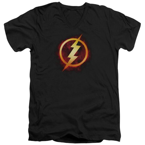 Jla Flash Title Short Sleeve Adult V Neck T-Shirt