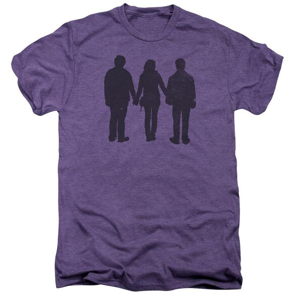 Harry Potter Three Stand Alone Short Sleeve Adult Premium Tee Deep Purple T-Shirt