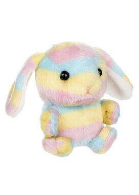 Rainbow Bunny Plush Keychain