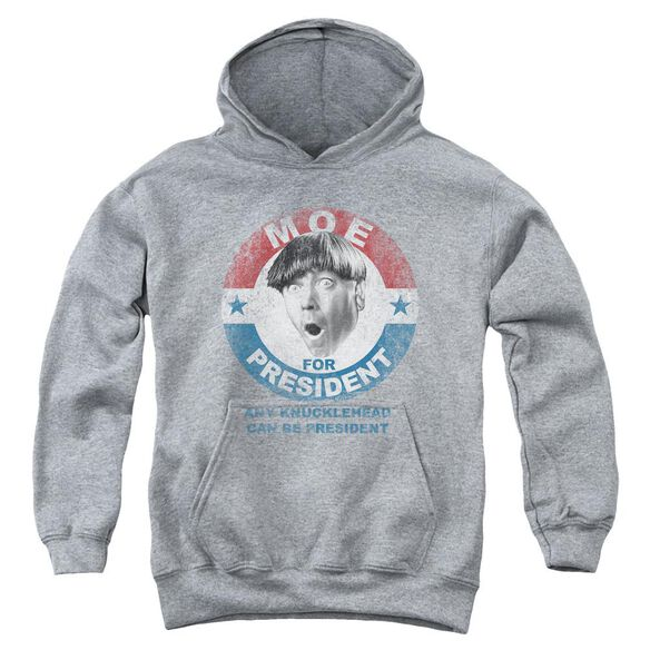 Three Stooges Moe For President Youth Pull Over Hoodie