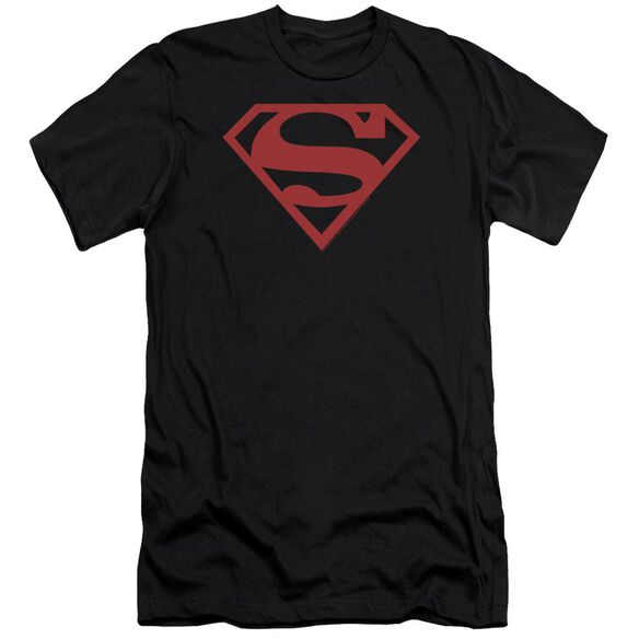 Superman Red On Shield Premuim Canvas Adult Slim Fit
