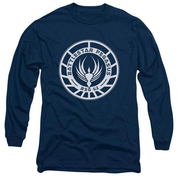 BSG PEGASUS BADGE - L/S ADULT 18/1 - NAVY T-Shirt